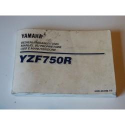 MANUEL DU PROPRIETAIRE 750 YZF