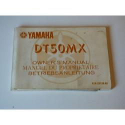 MANUEL DU PROPRIETAIRE 50 DTMX