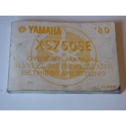 MANUEL DU PROPRIETAIRE 750 XS SE