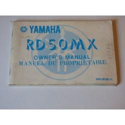 MANUEL DU PROPRIETAIRE 50 RDMX