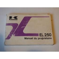 MANUEL DU PROPRIETAIRE EL 250
