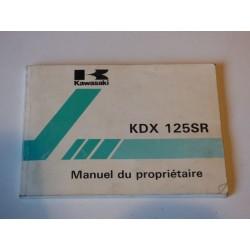 MANUEL DU PROPRIETAIRE 125 KDX