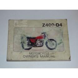MANUEL DU PROPRIETAIRE Z400