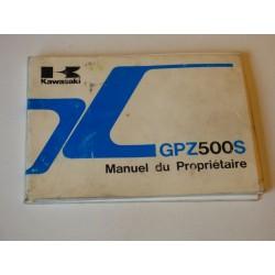 MANUEL DU PROPRIETAIRE GPZ 500